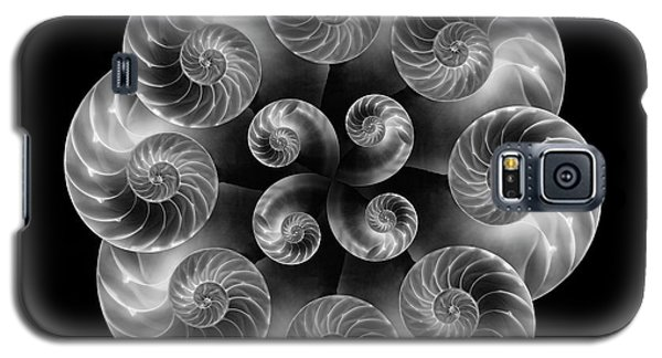 Galaxy S5 Case featuring the photograph Nautilus Abstract Art by Tom Mc Nemar