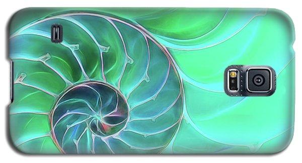 Nautilus Aqua Spiral Galaxy S5 Case