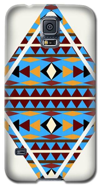 Navajo Blue Pattern Art Galaxy S5 Case