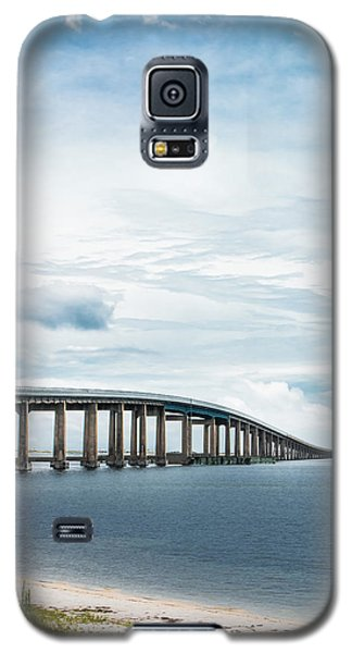 Galaxy S5 Case featuring the photograph Navarre Bridge In Florida On The Sound Side by Shelby Young