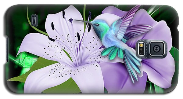 Galaxy S5 Case featuring the mixed media Navigation Humming Bird by Marvin Blaine
