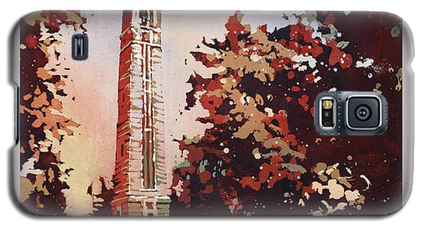 Galaxy S5 Case featuring the painting Ncsu Bell-tower II by Ryan Fox