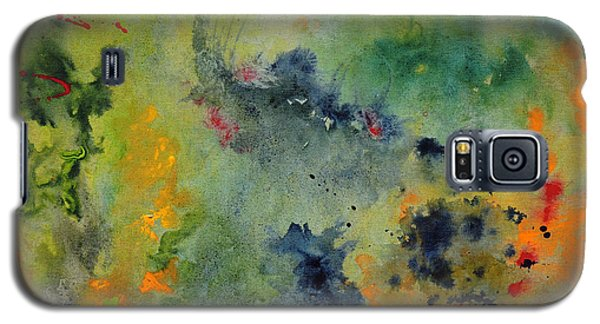 Galaxy S5 Case featuring the painting Nebula by Karen Fleschler