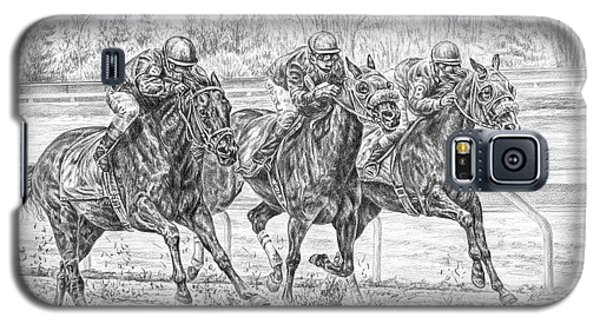 Neck And Neck - Horse Racing Art Print Galaxy S5 Case