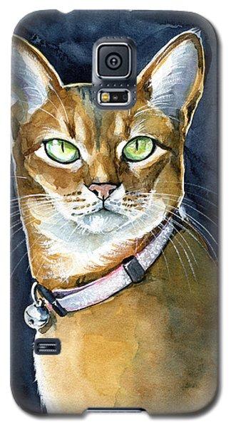 Nefertiti - Abyssinian Cat Portrait Galaxy S5 Case
