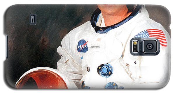 Galaxy S5 Case featuring the photograph Neil Armstrong by Ericamaxine Price