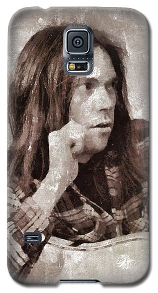 Neil Young Galaxy S5 Case - Neil Young By Mary Bassett by Mary Bassett