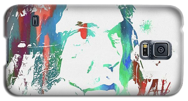 Neil Young Galaxy S5 Case - Neil Young Paint Splatter by Dan Sproul