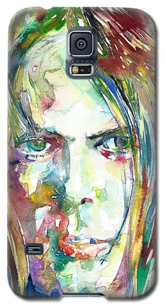 Neil Young Galaxy S5 Case - Neil Young Portrait by Fabrizio Cassetta