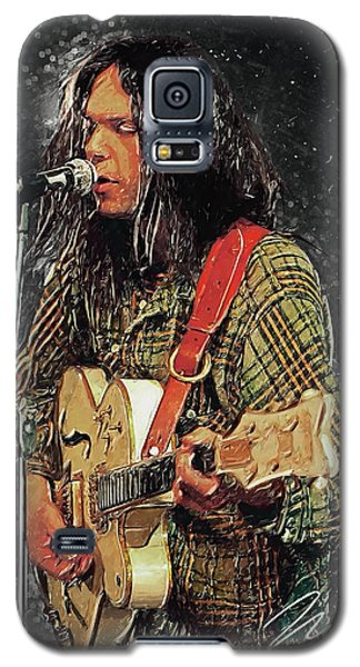 Neil Young Galaxy S5 Case - Neil Young by Taylan Apukovska