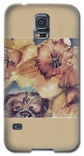 Galaxy S5 Case featuring the painting Nellie Mae by Mindy Newman
