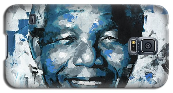 Galaxy S5 Case featuring the painting Nelson Mandela II by Richard Day