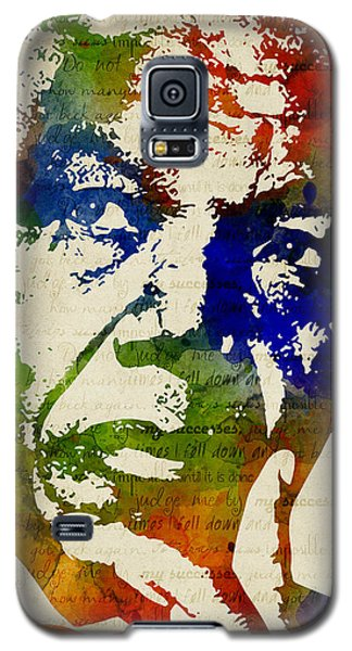Nelson Mandela Watercolor Galaxy S5 Case by Mihaela Pater