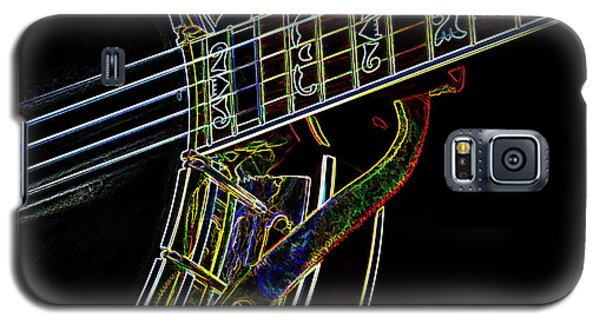 Galaxy S5 Case featuring the photograph Neon Banjo  by Wilma Birdwell