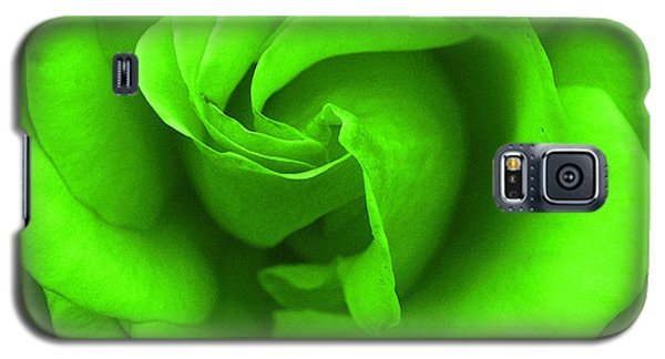 Neon Green Rose Galaxy S5 Case by Robyn Stacey