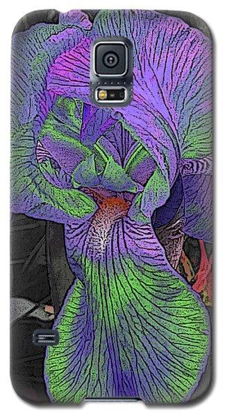 Neon Iris Dark Background Galaxy S5 Case