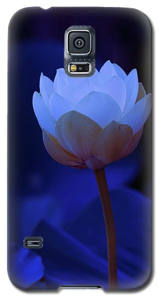 Galaxy S5 Case featuring the photograph Neon Lotus by Carolyn Dalessandro