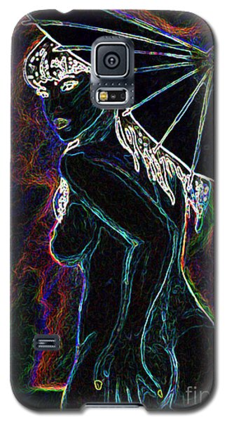 Galaxy S5 Case featuring the painting Neon Moon by Tbone Oliver