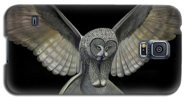 Galaxy S5 Case featuring the digital art Neon Owl by Rand Herron