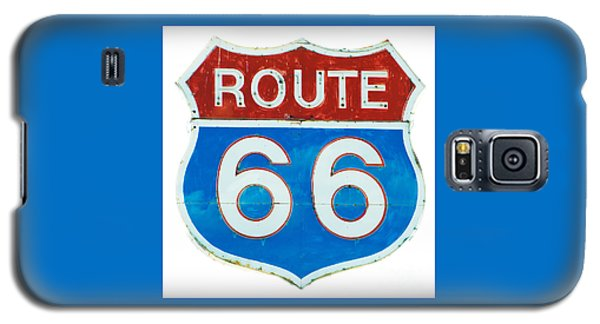 Neon Route 66 Sign Galaxy S5 Case by MaryJane Armstrong
