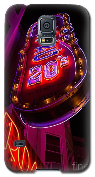 Neon Signs At Night In North Beach Low Angle Ve Galaxy S5 Case by Jason Rosette