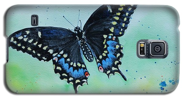 Neon Swallowtail Galaxy S5 Case