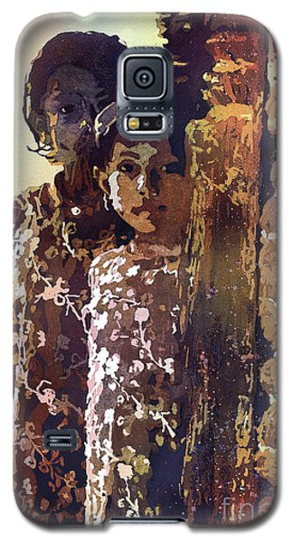 Galaxy S5 Case featuring the painting Nepalese Girls by Ryan Fox