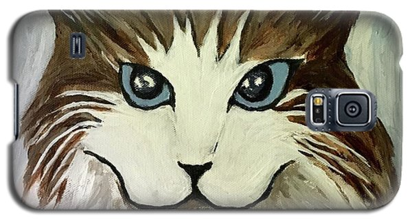 Galaxy S5 Case featuring the painting Nerd Cat by Victoria Lakes