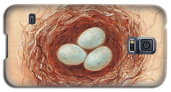 Galaxy S5 Case featuring the painting Nest In Umber by Pam Talley