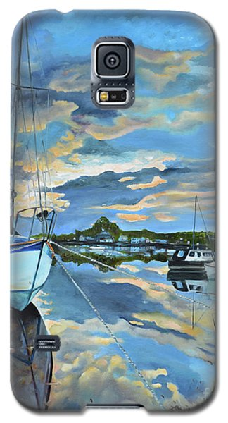 Nestled In For The Night At Mylor Bridge - Cornwall Uk - Sailboat  Galaxy S5 Case