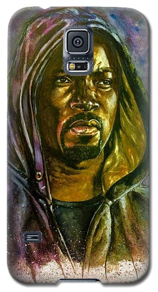 Galaxy S5 Case featuring the painting  Netflix Luke Cage by Darryl Matthews