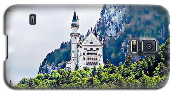 Galaxy S5 Case featuring the photograph Neuschwanstein Castle With A Glider by Joseph Hendrix
