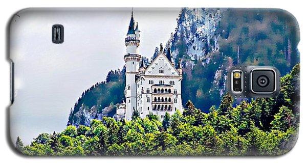 Neuschwanstein Castle With A Glider Galaxy S5 Case by Joseph Hendrix