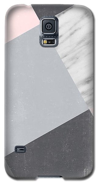 Neutral Collage With Marble Galaxy S5 Case