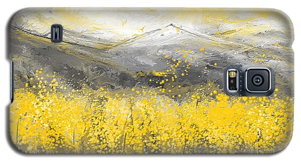 Neutral Sun - Yellow And Gray Art Galaxy S5 Case