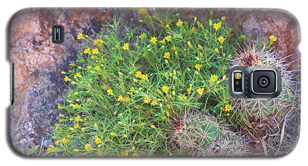 Galaxy S5 Case featuring the photograph Nevada Yellow Wildflower by Linda Phelps