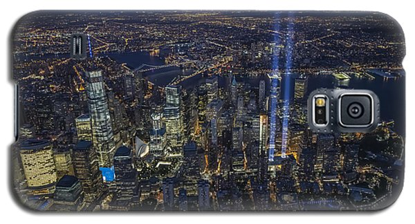 Galaxy S5 Case featuring the photograph Never Forget-an Aerial Tribute by Roman Kurywczak