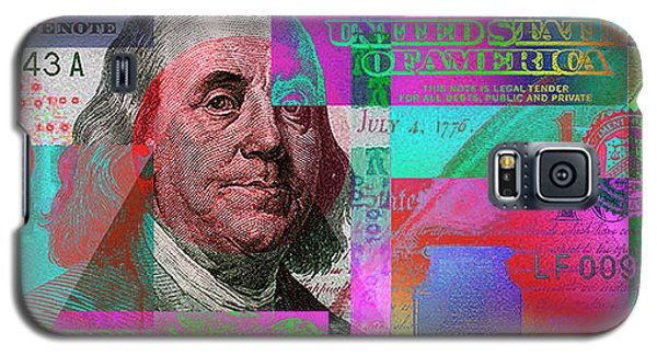New 2009 Series Pop Art Colorized Us One Hundred Dollar Bill  No. 3 Galaxy S5 Case