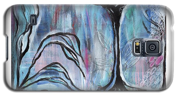 Galaxy S5 Case featuring the painting New Beginnings by Angela Armano