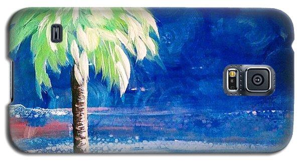 New Blue Horizons Palm Tree Galaxy S5 Case