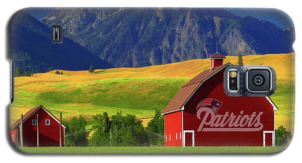 Galaxy S5 Case featuring the photograph New England Patriots Barn by Movie Poster Prints