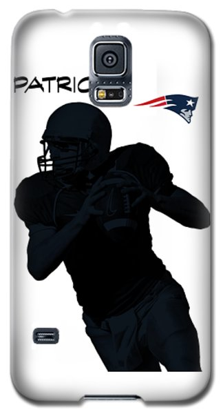 Galaxy S5 Case featuring the digital art New England Patriots Football by David Dehner
