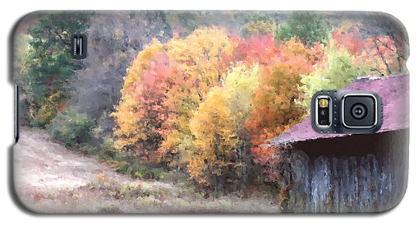 Galaxy S5 Case featuring the painting New England Tobacco Barn In Watercolor by Smilin Eyes  Treasures