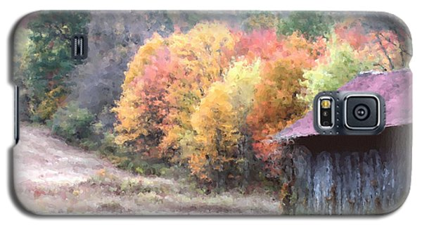 New England Tobacco Barn In Watercolor Galaxy S5 Case by Smilin Eyes  Treasures