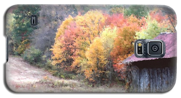 New England Tobacco Barn In Watercolor Galaxy S5 Case