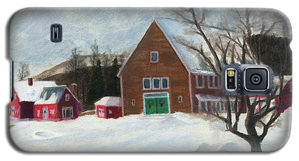 New Hampshire Farm In Winter Galaxy S5 Case