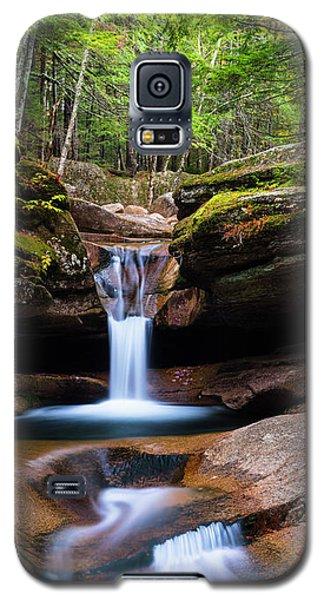 New Hampshire Sabbaday Falls And Fall Foliage Panorama Galaxy S5 Case