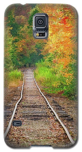 New Hampshire Train Tracks To Foliage Galaxy S5 Case