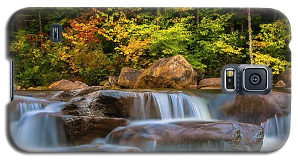 New Hampshire White Mountains Swift River Waterfall In Autumn With Fall Foliage Galaxy S5 Case