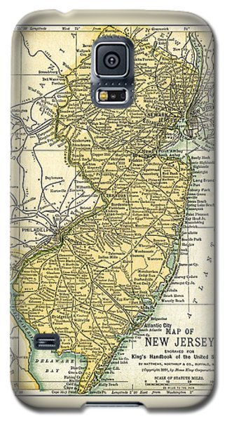 New Jersey Antique Map 1891 Galaxy S5 Case